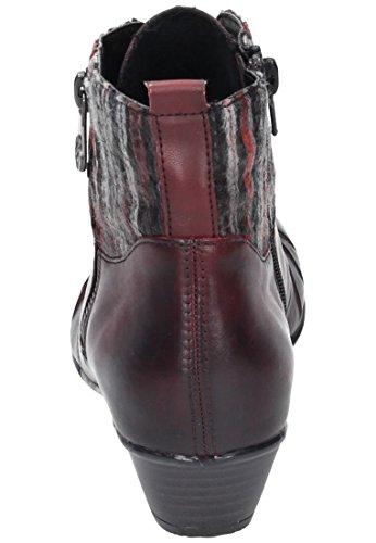 Remonte Femmes bottines rouge, (chianti/rot-grau/bur) D7390-35 chianti/rot-grau/bur