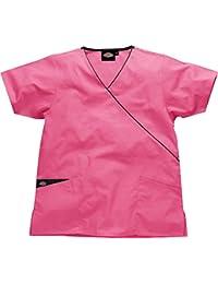Dickies Mujer camisa medica ultra cómodo cuello pico-Colores-Rosa/Morado/Verde