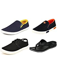 Maddy Perfect Combo of Sneaker, Loafer & Slipper for Men Pack of 4 in Various Sizes (6)