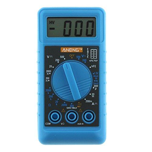 Amperometro voltmetro digitale multimetro RLFS Mini DMM con buzzer (blu)