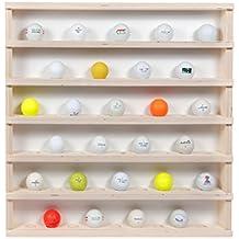 Golfball Vitrine für 54 Golfbälle aus Holz Golf-01