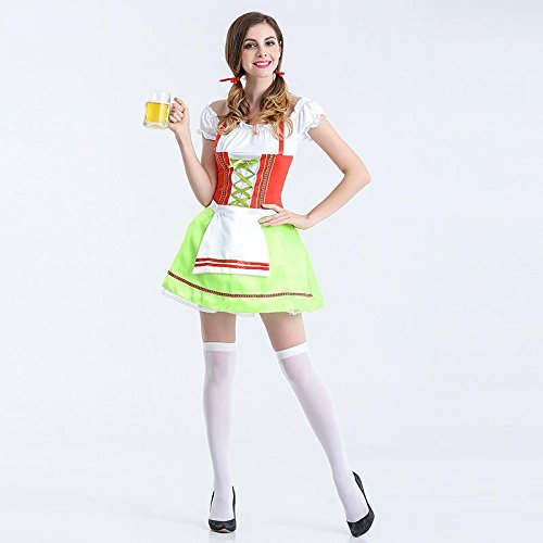 Oktoberfest Kostüm Weibliche - CYY Oktoberfest Bier Service Magd Diener Mantra Halloween Cosplay Bühne Performance Anzug, l