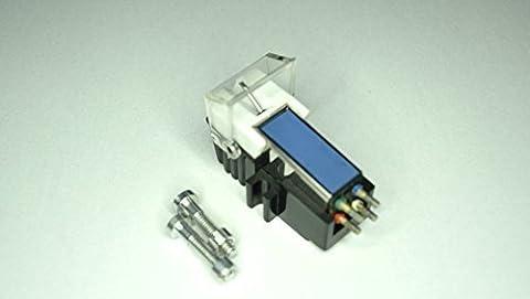 Aimant Mobile Cartouche avec Diamant Stylet compatible avec Technics SL1200, SL1200 Mk2, SL1200 Mk5, SL1210 Mk2, SL1210 Mk5, SL1600 Mk2, SL1610 Mk2, SL1700 Mk2, SL1710 Mk2, SL1800 Mk2, SL1810 Mk2 Platine bras de lecture