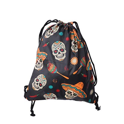 delzug Rucksack Unisex Halloween Tasche 3D-Druck Kordelzug Rucksack für Shopping Travelling School ()