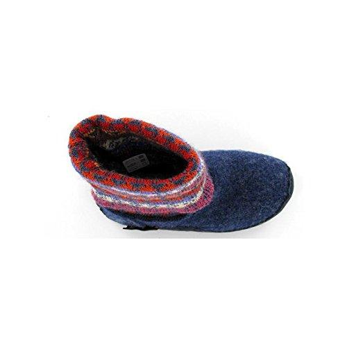 Chaussons chaussettes enfant Navajo Bleu