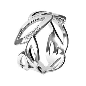 Hot Diamonds Multi Leaf Silver And Diamond Ring - Size L