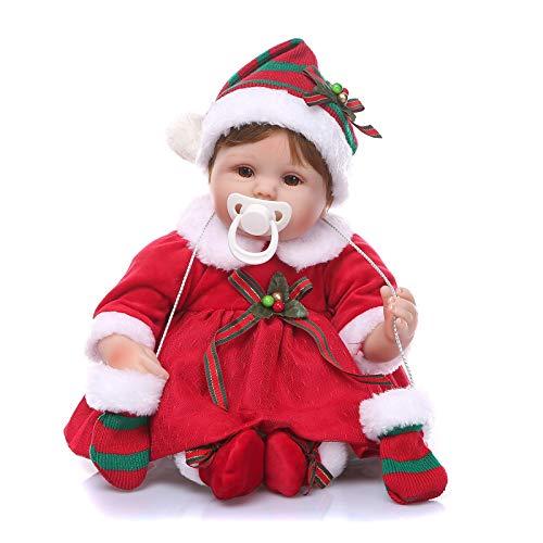 Nicery Reborn Puppe, 45 cm, weiches Silikon-Vinyl, für Kinder Geburtstag und Weihnachten, A3UK