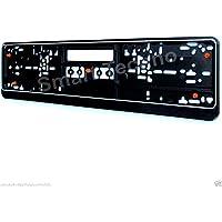 Kennzeichenschildhalter Nummernschildhalter schwarz mit Gummi, Anti-Vibration, Model 3306