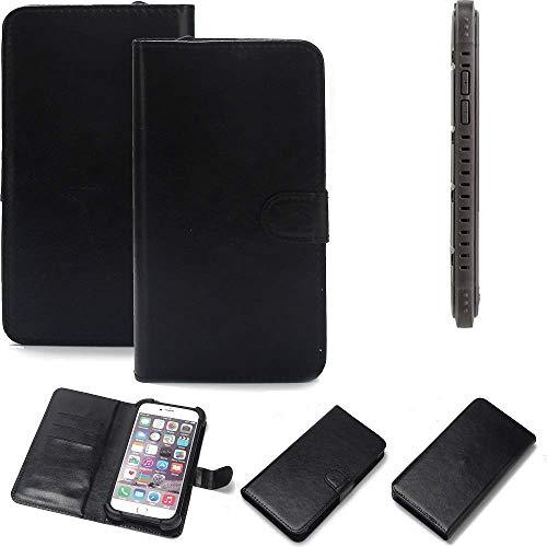 K-S-Trade 360° Wallet Case Handyhülle für Cyrus CS 35 Schutz Hülle Smartphone Flip Cover Flipstyle Tasche Schutzhülle Flipcover Slim Bumper schwarz, 1x