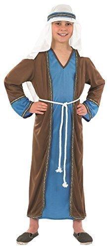 Weihnachten Krippenspiel Play Kostüm Kleid Outfit - Braun, 6-8 years (Kind Joseph Kostüme)
