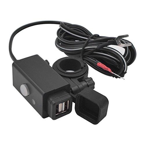 Detectoy YKT-0204X-5 12-24 V 3.1A Dual USB Wasserdichte Handy-ladegerät mit Schalter LED-anzeige Licht Motorrad Zubehör