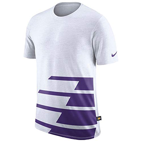 Preisvergleich Produktbild Nike Herren Los Angeles Lakers DNA T-Shirt Large White Court Purple