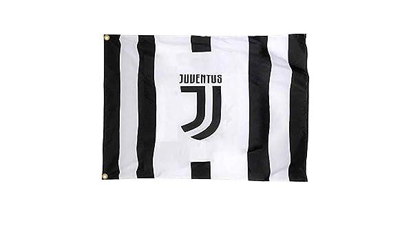 s/érie A Drapeau g/éant Officiel FC Juventus 100/% Polyester et 150 cm x 90 cm