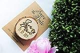 10 x Save the Date Magnet mit Karte Hochzeit - Baumscheibe - echtes Holz