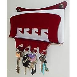 Fimel - porta chiavi porta posta da parete in plexiglass unico pezzo mis. L. 23 CM X H 18 CM X P. 4 CM (ROSSO)