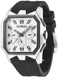 POLICE PL.12893JSSB/04 - Reloj analógico de cuarzo para hombre con correa de silicona, color negro