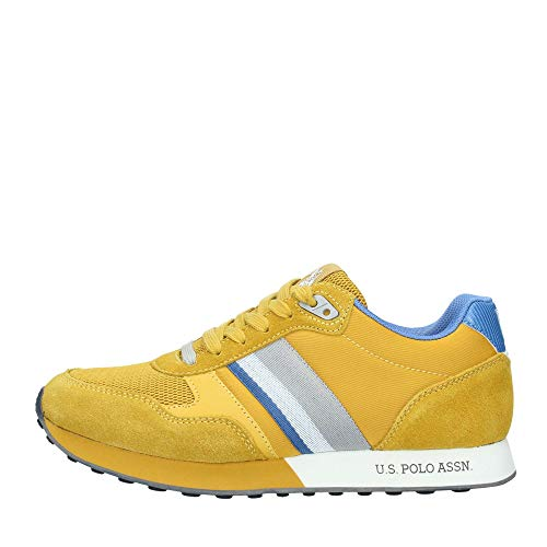 Sneaker Running US Polo Uomo MOD. Julius Suede/Tessuto Mesh Colore Giallo US19UP03