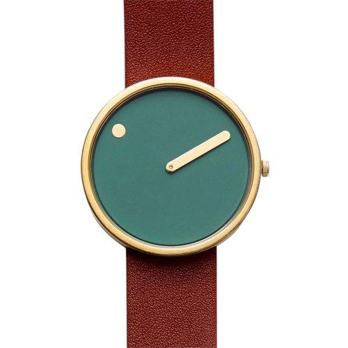 Rosendahl Unisex Analog Quarz Uhr mit Leder Armband 43377 - Armee Grün Abgeschnitten