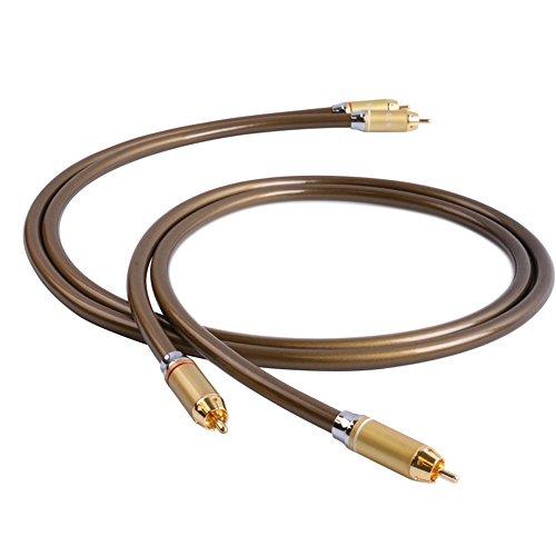 SKW OCC Audio Video Rca Kabel Stecker auf männlich vergoldet Hifi Subwoofer AV / DV TV Aux Kabel Heimkino Enthusiasten Computer Medien