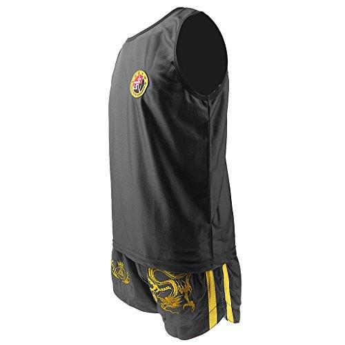 Sharplace Uniforme de Boxeo Camisa Muay Thai Diseño Dragón Chino Suave Chaleco Pantalón Corto Transpirable Confortable Traje Niños