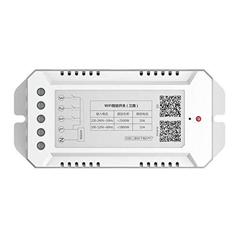 TOOGOO Smart Wifi Schalter überwachung Temperatur Luft Feuchtigkeit Fern Schalter Modul Haus Automation Kit Funktioniert mit Alexa Home (3 Ch) -