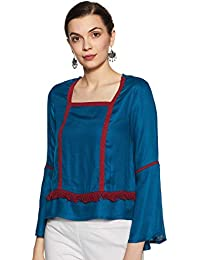 Indigo Women's Cotton Straight Kurti