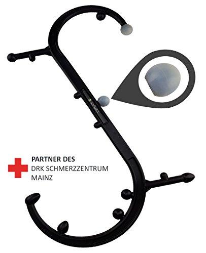 Triggerpunkt Massagegerät + Anwendungsheft ✓ Selbstmassagegerät ✓ Massagestab Rücken ✓ Trigger Stick ✓ Massage Haken