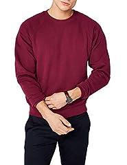 Idea Regalo - Fruit of the Loom Raglan Sweatshirt, Felpa Uomo, Rosso (Burgundy), Large