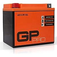 Batterie 12V 10Ah Gel GP-Pro (Typ - GTX12-BS/ähnlich YTX12-BS) (versiegelt/wartungsfrei)