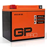 GP-PRO GTX12-BS 12V 10Ah Batería de Gel (Comparable con la YTX12-BS / 51012)