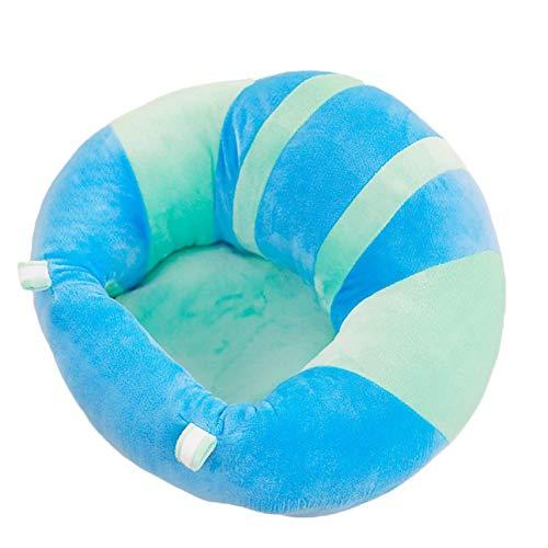 Siège de soutien pour le dos en coton doux pour bébé Chaise de salle à manger Coussin Oreiller Coussin d'allaitement Animal Cuddle Siège de bébé de Ballylelly (bleu et vert)