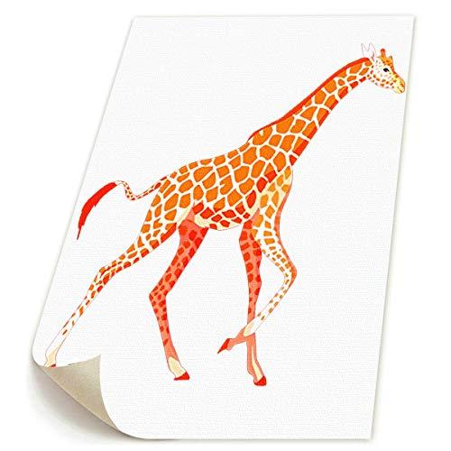 (SDGYGSNi Leinwanddrucke mit Giraffe, abstraktes Pop-Art-Motiv, lustig, buntes Tiermotiv auf Leinwand, Gemälde, Heimdekoration)