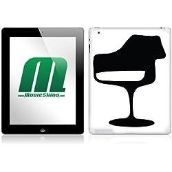 MusicSkins MS-ESL10250 - Skin para tablet Apple iPad 2, diseño Tulip Chair