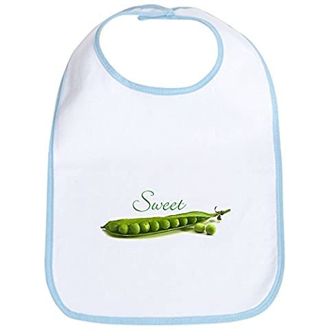 CafePress - Sweet Pea Bib - Cute Cloth Baby Bib, Toddler Bib