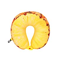 HLHN Fruit U-shaped Pillow Travel Pillow Nanoparticles Cushion Neck Travel Pillow Car Pillow (A)