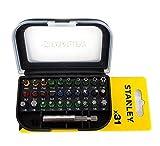 STANLEY STA60490-XJ - Juego de 31 piezas para atornillar con puntas...