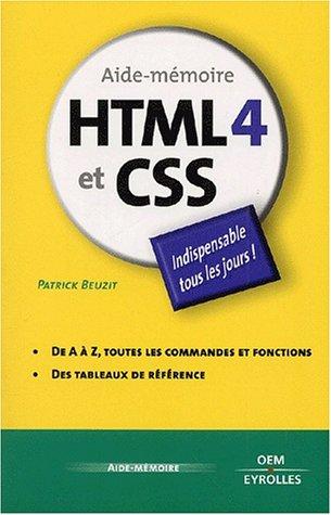 HTML 4 et CSS par Patrick Beuzit