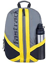 Fastrack 25.07 Ltrs Grey School Backpack (AC027NGY01)