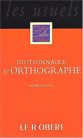 Dictionnaire d'orthographe poche