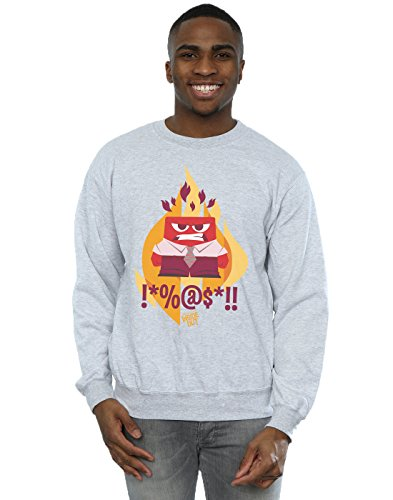 Disney Herren Inside Out Fired Up Sweatshirt X-Large Sport (Pullover Disney Up)