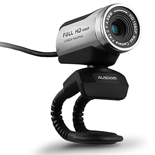Price comparison product image HD Webcam, Ausdom Full HD 1080P/30fps Web Camera AW615 USB Interface with Microphone, Video Chat, High Definition Picture Taking,Image Transcribing and Voice Conversation