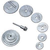 Edealing Nouveau 7pc HSS circulaire en bois de coupe lame de scie Disques pour Dremel Outil rotatif Mandrin