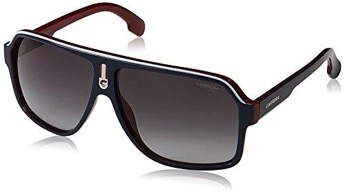Carrera Unisex-Erwachsene 1001/S 9O 8RU Sonnenbrille, Blau (BLUEE REDWHTE/DARK GREY SF), 62