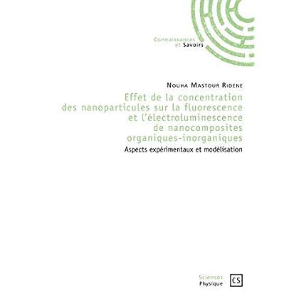 Effet de la concentration des nanoparticules sur la fluorescence et l'électroluminescence de nanocomposites organiques-inorganiques: Aspects expérimentaux et modélisation