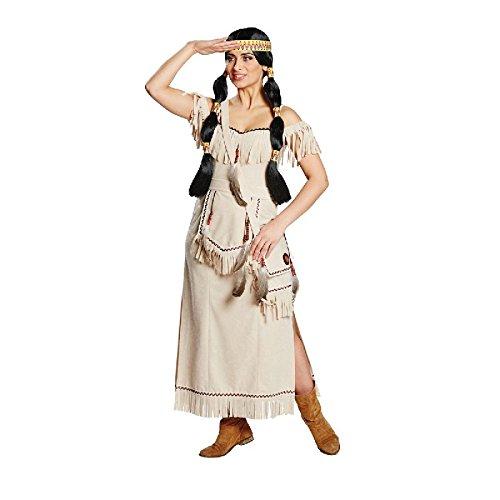 Squaw Damen Kostüm Indianerin Indianerkostüm Karneval Fasching Gr.46