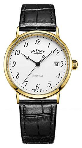 Rotary Reloj de Buckingham para hombre de caja de oro 9ct GS11476/18
