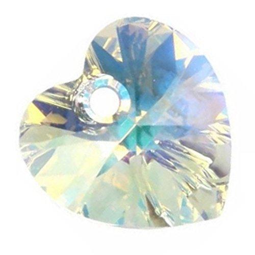 Pendentif Coeur Swarovski Crystal Ab 28 mm Qté 16