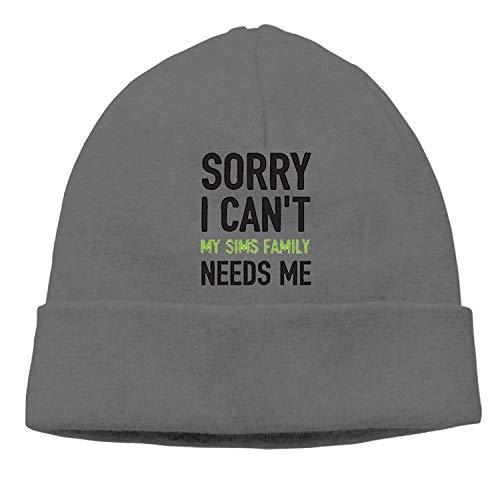 Preisvergleich Produktbild Sorry I Canâ€t My Sims Family Needs Me New Winter Hats Knitted Twist Cap Thick Beanie Hat DeepHeather