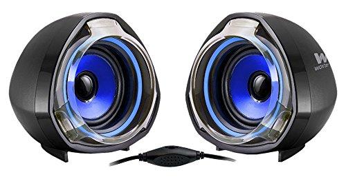 WOXTER BIG BASS  70 BLUE - Altavoces multimedia (2.0, potencia 15W, con terminación bicolor) color negro y azul