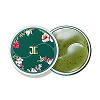 JAYJUN Cosmetic Green Tea Eye Gel Patch - Eye Treatment for Dark Circle - Anti aging Under Eye Patch - Eye Mask Sheets Moisturizer with Hyaluronic Acid - Authentic Korean Cosmetics 177g